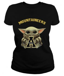 Baby Yoda hug Mountaineers  Classic Ladies