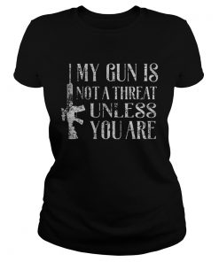 My gun is not a threat unless you are  Classic Ladies