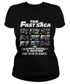 The Fast Saga 2001 2020 9 Movies Thank You For The Memories  Classic Ladies