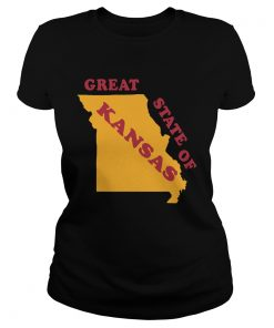 The Great State of Kansas Missouri Funny Marker Correction  Classic Ladies