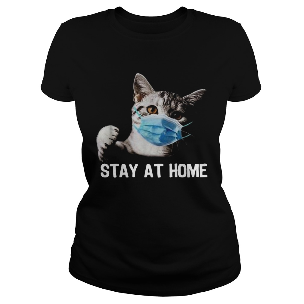 Cat Mask Stay At Home  Classic Ladies