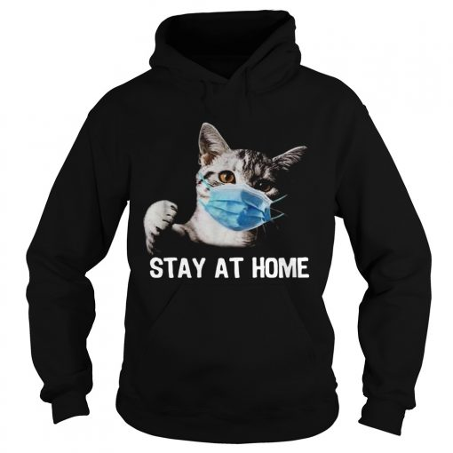 Cat Mask Stay At Home  Hoodie