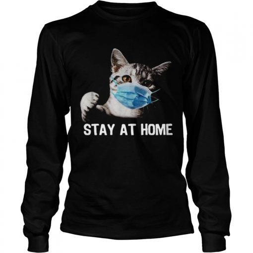 Cat Mask Stay At Home  Long Sleeve