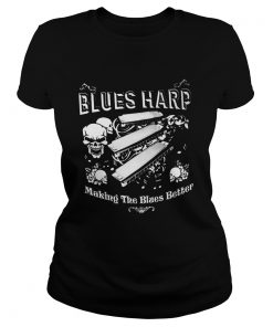 Good Skull Blue Harp Making The Blues Better  Classic Ladies