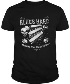 Good Skull Blue Harp Making The Blues Better  Unisex