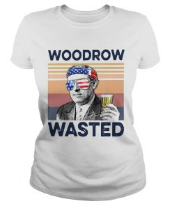 Beautiful American Flag Woodrow Wasted  Classic Ladies