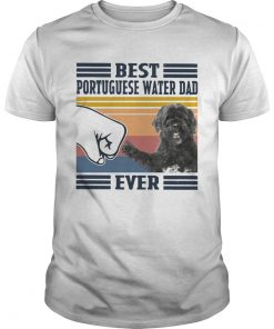 Best Portuguese Water Dad Ever Vintage  Unisex