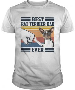 Best Rat Terrier Dad Ever Vintage  Unisex