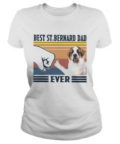 Best StBernard Dad Ever Vintage  Classic Ladies