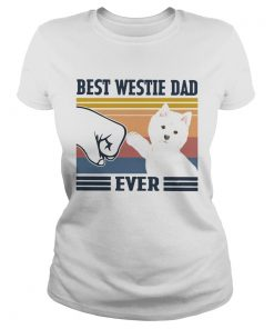 Best Westie Dad Ever Vintage  Classic Ladies
