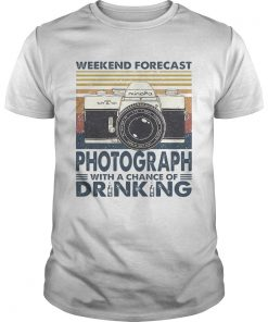 Forecast Photograph With A Chance Of Drinking Vintage  Unisex