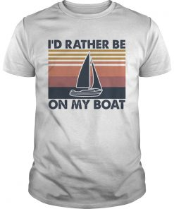 Id rather be on my boat vintage  Unisex