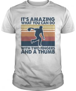 Its amazing what you can do with two a fingers and a thumb vintage  Unisex