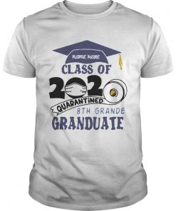 Name Here Class Of 2020 Quarantined 8th Grande Granduate Navy Blue  Unisex