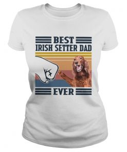 Nice Best Irish Setter Dad Ever Vintage  Classic Ladies