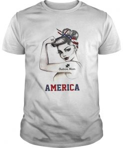 Strong Woman Autism Mom America  Unisex
