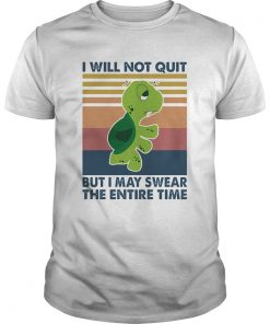 Turtle I will not quit but I may swear the entire time vintage  Unisex
