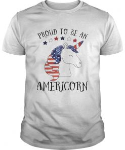 Unicorn proud to be an americorn american flag independence day  Unisex
