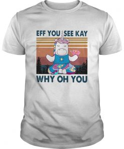 Urnicorn eff you see kay why oh you vintage  Unisex