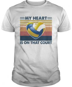 Volleyball my heart is on that court vintage  Unisex