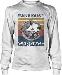 Anxious Garbage Mouse Vintage Retro  Long Sleeve