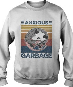 Anxious Garbage Mouse Vintage Retro  Sweatshirt