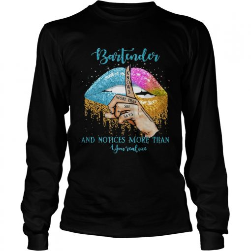 Bartender And Noties More Than You Valiae Lips Color  Long Sleeve