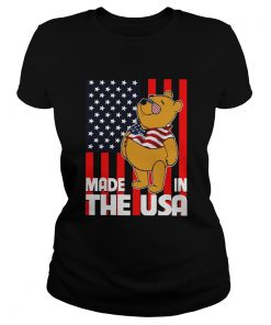 Pooh Made In The USA America Flag  Classic Ladies