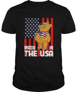 Pooh Made In The USA America Flag  Unisex