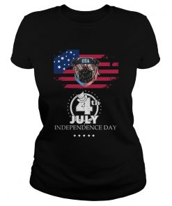 Pug American Flag USA 4th July Independence Day  Classic Ladies