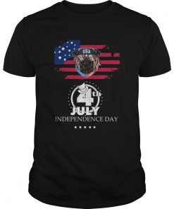 Pug American Flag USA 4th July Independence Day  Unisex