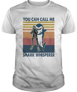 Scuba diving you can call me shark whisperer vintage retro  Unisex