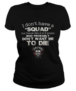 Skull i dont have a squad but i know like 4 or 5 people who probably dont want me to die  Classic Ladies