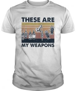 These Are My Weapons Glove Tatoo Tools Vintage Retro  Unisex