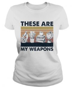 These Are My Weapons Microscope Earth Model Pen Box Apple Book Vintage Retro  Classic Ladies