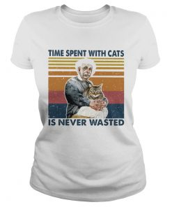 Time spent with cats is never wasted vintage retro  Classic Ladies