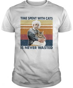 Time spent with cats is never wasted vintage retro  Unisex