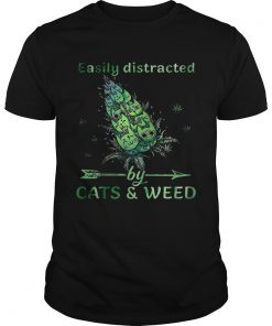 Easily Distracted By CatsWeed  Unisex