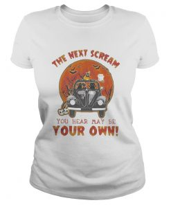 Halloween cat riding car the next scream you hear may be your own sunset  Classic Ladies