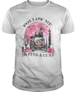 Halloween witch follow me to find a cure cancer awareness  Unisex