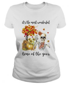 ITS THE MOST WONDERFUL PUMPKIN TIME OF THE YEAR AUTUMN SKULL  Classic Ladies