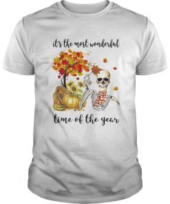 ITS THE MOST WONDERFUL PUMPKIN TIME OF THE YEAR AUTUMN SKULL  Unisex