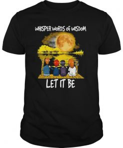 Charlie Brown Whisper Words Of Wisdom Let It Be shirt