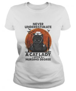 Never Underestimate A Cat Lady With A Nursing Degree Sunset  Classic Ladies