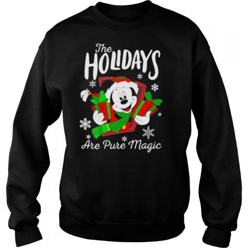 Merry christmas mickey mouse the holidays are pure magic shirt