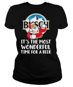 Busch Light It's The Most Wonderful Time For A Beer Christmas Santa 2020 T Shirt