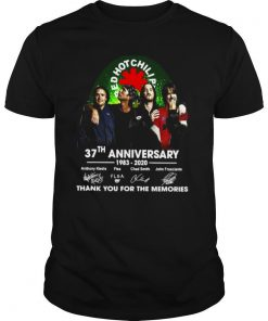 Red Hot Chili 37th Anniversary 1983 2020 Thank You For The Memories Signature shirt
