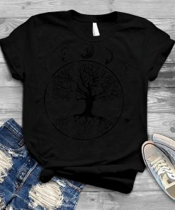 Phases Of The Moon Funny Tree Of Life Cottagecore Gift T Shirt