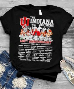 The Indiana Hoosiers 120th anniversary 1901 2021 thank you for the memories signatures shirt