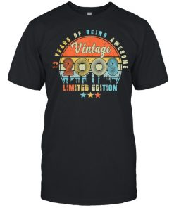 Vintage 2008 13th Birhtday 13 Years Old Limited Edition Bday  Classic Men's T-shirt
